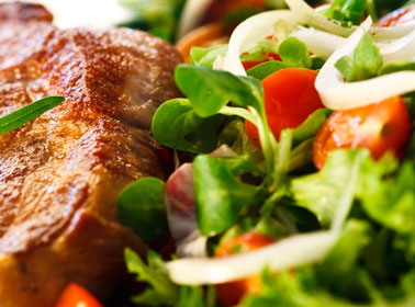 Steak and Salad